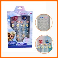 Wholesale 2014 New Girls Anna Elsa Doll Frozen Ring Sets Baby Girls Party Ring Kids Ring As Christmas Xmas Gift