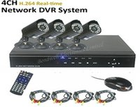 Cheap 4CH H.264 DVR Kit with 500GB HDD, 4ch video surveillance system, 4ch H.264 real time network DVR system, FREESHIPPING