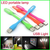 Wholesale Portable USB LED Light Bendable Mini Emergency Bar Light W USB LED Portable Lamp V for Computer Laptop power bank Notebook