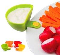 Wholesale 4pcs set multifunction kitchen accessories Dip Clips kitchen bowl tool mini bowl kit