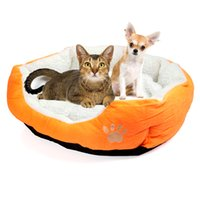 Wholesale Soft warm Pet Cat Bed Pet Nest luxury Dog nest Luxury warm round Supplies H8588