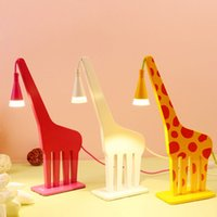 Cheap Cute Cartoon Deer Kid's Room Table Lamp Creative Baby Room Desk Lamps Children Study Room Desk Lights