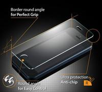 al por mayor película de pantalla iphone4-¡Dropship !! Protector de la pantalla Vidrio templado Para iphone5 iphone5s iphone4 4s Proteja la película con la caja al por menor del paquete