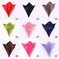 Wholesale 1400pcs Fashion Chic Male s Solid Color Pocket Square Handky Handkerchief Wedding Banquet Favor MN500