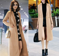 best trench - Best Selling Women s Trench Coats Elegant X Long Trench Coats Outerwear Coat Lapel Neck loose Plus size Winter Trench Coat fashion Women