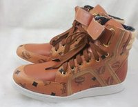 Wholesale 6 color new fashion MCM Visetos Urban Nomad Brown Shoe sneakers high fashion