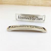 adventure bracelet - 12 MM quot Adventure Is out there quot Vintage tibetan silver word charms bracelet connector antique message pendants jewelry making