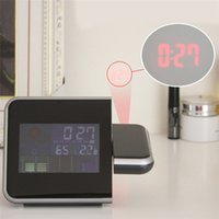 Wholesale New Brand Digital LCD LED Projector Alarm Clock Weather Station Thermometer Calendar ASAF High quality