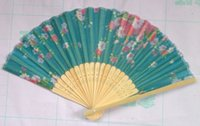 Wholesale New X Chinese Silk folding Bamboo Hand Fan Fans Art Handmade Flower