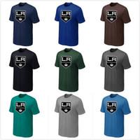 angeles long - Hockey Shirts Los Angeles Kings t shirts Big Tall Logo Fashion LA Kings Hockey Tees Shirt O Neck Cotton Short Sleeve Colors
