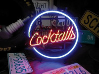 Wholesale Cocktails NEON SIGN HANDICRAFT CUSTOM REAL GLASS TUBE LIGHT SIGNS BAR BEER PUB STORE HUNG WALL