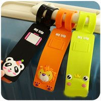 Wholesale 100pcs New Animal Cute Travel Lage Tag PVC Baggage Tag Colorful Identification card for Trip D816