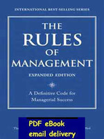 Wholesale The Rules of Management Expanded Edition A Definitive Code for Managerial Success Richard Templar s Rules