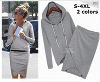 Wholesale 2015 Hot women casual dress suit fashion designer baseball sweatshirt Tracksuits pullovers hoodies sportswear clothing set plus sizeS XL