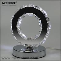 ac plate - LED Crystal Ring Table Light LED Reading Light Bedside Table Light Desk Lamp