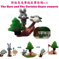 bedtimes stories - set Finger Puppets Nursery Childrens Bedtime Educational Fairy Tale Animal Story The tortoise and the hare