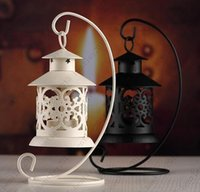 Wholesale New Iron Moroccan Style Candlestick Candleholder Candle Tea Light Holder Decor