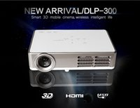 DLP best business movie - 2015 New arrival Full HD Mini Smart DLP300B Projector LCD D Best Home Thearter TV Beamer Protable DLP Projektor p watch movies
