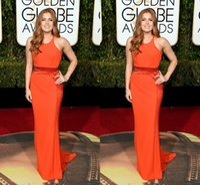 amy adams - 73rd Golden Globe Awards Evening Dresses Jewel Backless Beads Orange Amy Adams Wear Jenny Packham Prom Party Red Carpet Celebrity Gowns