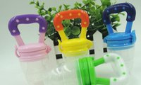 Wholesale 200sets Baby Teether Fruit Pacifier Food Supplement Silicone Teether Fresh Food Teething Toy Feeder Stick Pacifier