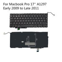 Wholesale Laptop Keyboard Swedish Layout with Backlit For Apple Unibody Macbook Pro A1297 Early to Late Original Replacement