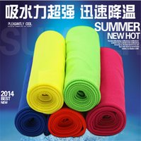 Wholesale 2016 Cool towel Summer cooling towels sports outdoor ice cold scaft scarves Pad hot on ebay summer necessity for Fitness Yoga