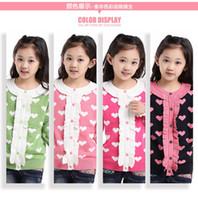 Wholesale Girl s sweater cuhk children s wear sweaters kiss girl cardigan qiu dong children render unlined upper garment