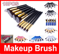 amazing hair brush - 10Pcs Professional Cosmetic Makeup Tool Brush Brushes Set Powder Eyeshadow Blush SET Amazing hot