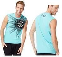 active pulse - man Tank Tops vest dance tops Pump Your Pulse Graphic Tee sky blue grey