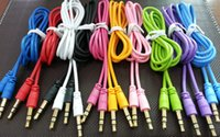 Wholesale 2015 Universal AUX cable mm auxiliary audio cable m Retractable audio connecting Cable Lead for iPhone samsung S6 Hi Fi Stereo Speakers