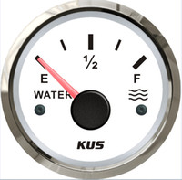 Wholesale 52mm Water level gauge meter SV KY11100 Signal ohm Waterproof white faceplate stainless steel bezel for universal car boat yacht