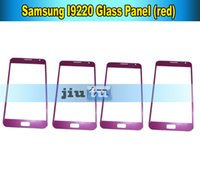 Wholesale front panel glass for broken samsung note1 N7000 I9220 parts fix Outer Touch Panel Red Color DHL Free