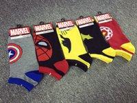 batman slippers - 2015 hot superhero socks Superman batman Iron man footsocks Breathable cotton cartoon sock slippers For Adult