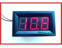 Wholesale 25pcs Red LED Digital Volt Voltage Panel Meter quot LED digital tube display D C3 V For car battery V V V
