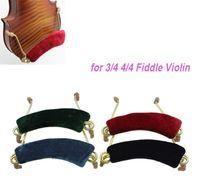 Wholesale Light weight Violin Shoulder Rest Aluminum Alloy Spring EVA Padded Adjustable in Width for Fiddle Violin