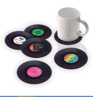vinyl record - 6PCS Vinyl Coaster Groovy Record Cup Drinks Holder Mat Tableware Placemat CD Shape