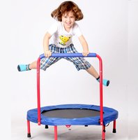 Wholesale Joy in children trampoline Trampoline jumping bed with foldable armrest small household bed indoor safety