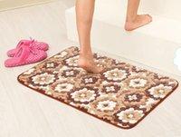 Wholesale Super soft coral fleece thickening carpet doormat slip resistant mats customize cm cm MAT Home Textile