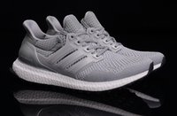 autumn tops - Top quality summer autumn women mens fashion adds Ultra Boost Gray Mesh Breathability sports shoes running shoes drop shipping size