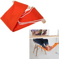 Wholesale New Office Foot Rest Stand Desk Feet Hammock Easy to Disassemble Study Indoor Orange cm
