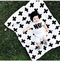 Cheap Brand Rest Cross Pattern Air Conditioning Blanket newborn swaddle Fleece Blankets Couverture Baby bedding Knitted Baby Blankets