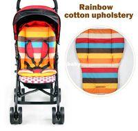 S520 baby pram - 2014 New baby stroller Seat Cushion Cotton stripe baby car waterproof pad stroller accessories Pram Rainbow cotton thick mat