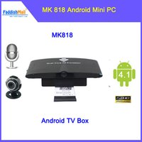 Wholesale MK818 Android Dual Core Mini PC Google TV Player w Bluetooth Android TV Box RK3066 Dual Core G G AV Audio Output HDMI
