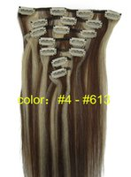 Wholesale ON SALE beauty Clip in Indian remy Hair Extension inch g for full head silky straight remy human hair