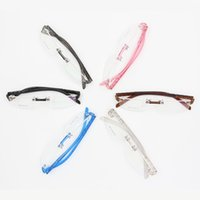 beautiful eyeglass frames - High quality beautiful multicolour jelly plastic rimless memory eyeglasses frame Rimless colorful plastic optical frames