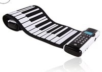 Wholesale Silicon Electric Piano with Keys foldable flexible roll up silicon electronic piano soft keyboar K8
