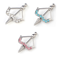 anchor barbell - New G L Surgical Steel Barbells Classic Anchor Gems Nipple Shield Rings Jewelry Fine Jewelry Nipple Piercing For Women Girl