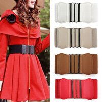 elastic stretch belt - New Women Elastic Faux Leather Buckle Waist Wide Belt Stretch Waistband Cinch fx296