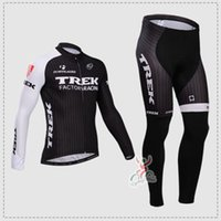 trek bike - New Trek men Bike Team Cycling Jersey and long pants Size Long Sleeve Cycling Jerseys Autum Wither Thermal Fleece cycling wears
