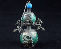 armored plates - CHINESE OLD JADE ARMORED TIBET SILVER PLATED CARVED DRAGON PHONEIX SNUFF BOTTLE